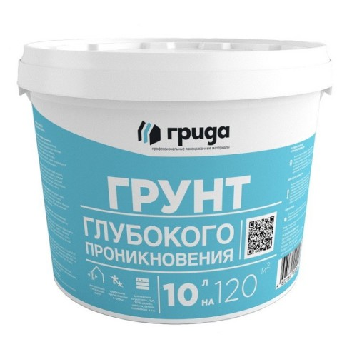 Грунтовка акриловая глубокого проникновения Грида морозостойкая 10 кг