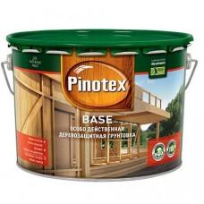 Грунтовка для защиты древесины Pinotex Base бесцветная 9 л