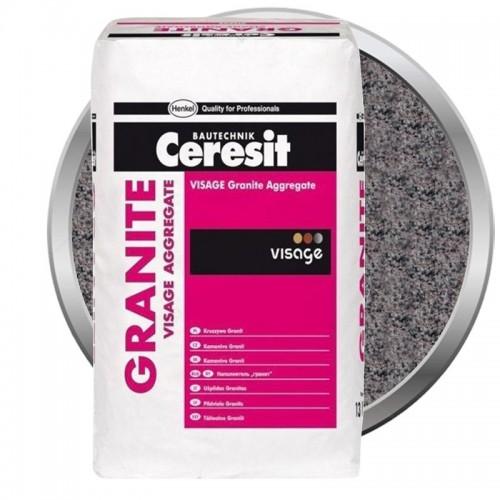 Наполнитель для декоративной штукатурки Ceresit CT 710 Visage Granite Aggregate Brasilia Rose 13 кг