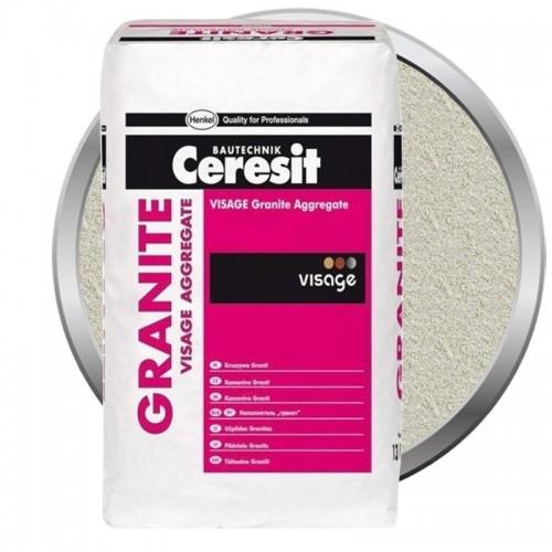 Наполнитель для декоративной штукатурки Ceresit CT 710 Visage Granite Aggregate Panama Cream 13 кг