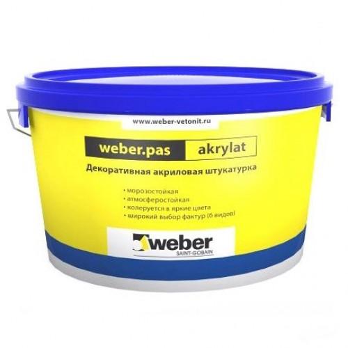 Штукатурка акриловая декоративная Weber.Pas Akrylat Шуба 2 мм белая 25 кг