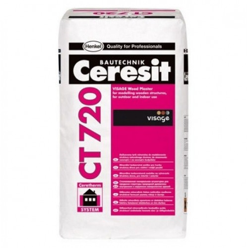Штукатурка декоративная Ceresit CT 720 Visage с фактурой дерева белая 25 кг