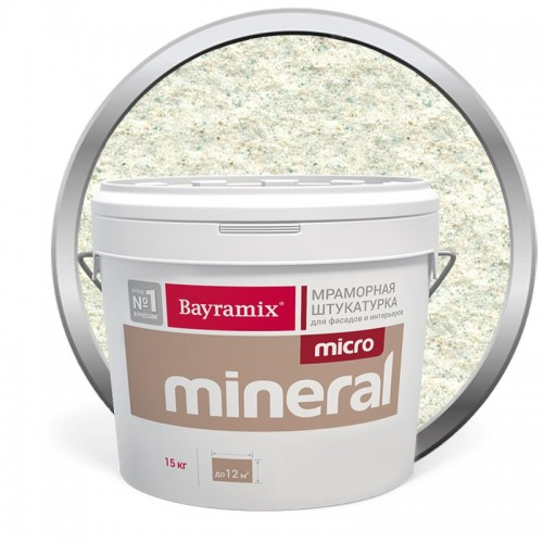 Штукатурка мраморная декоративная Bayramix Micro Mineral P-01 15 кг