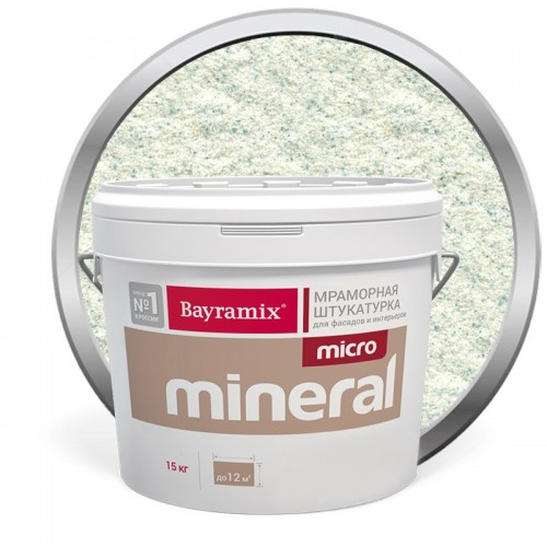 Штукатурка мраморная декоративная Bayramix Micro Mineral P-03 15 кг