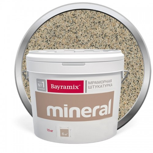 Штукатурка мраморная декоративная Bayramix Mineral 853 15 кг