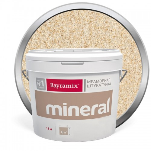 Штукатурка мраморная декоративная Bayramix Mineral 856 15 кг