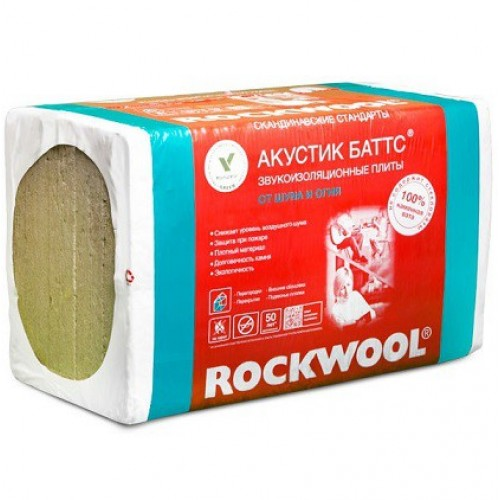 Базальтовая вата Rockwool Акустик Баттс 1000х600х100 мм (3м2)