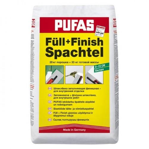 Шпатлевка финишная гипсовая Pufas Full+Finish Spachtel 20 кг - характеристики