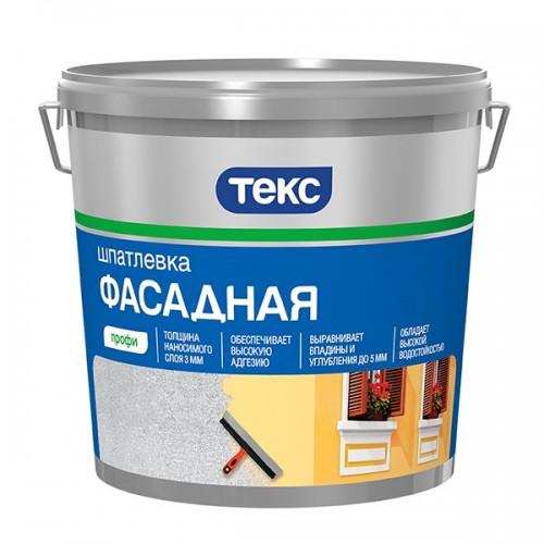 Шпатлевка фасадная акрилатная Текс Профи 5 кг