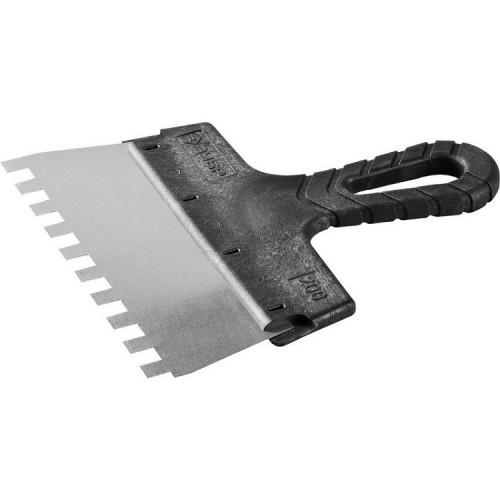 Шпатель зубчатый Зубр Мастер 10078-20-10 200 мм зуб 10х10 мм