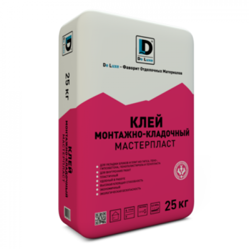 Клей монтажный De Luxe Мастерпласт 25 кг