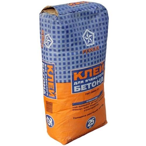 Клей Русеан для ячеистого бетона 25 кг