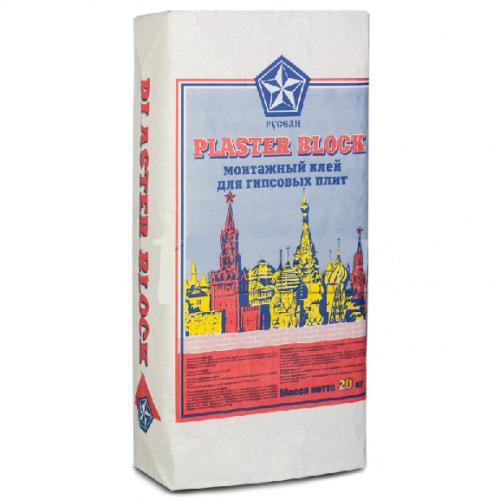 Монтажный клей Русеан Plaster block для гипсовых плит 20 кг