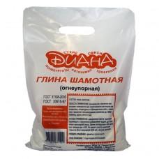 Глина шамотная Диана огнеупорная 10 кг