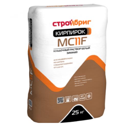 Раствор кладочный Стройбриг Кирпирок MC11 F 010 зимний белый 25 кг