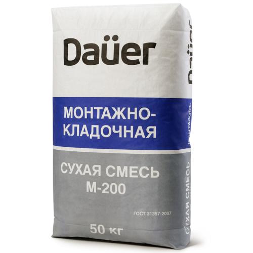Смесь сухая монтажно-кладочная Dauer М-200 50 кг