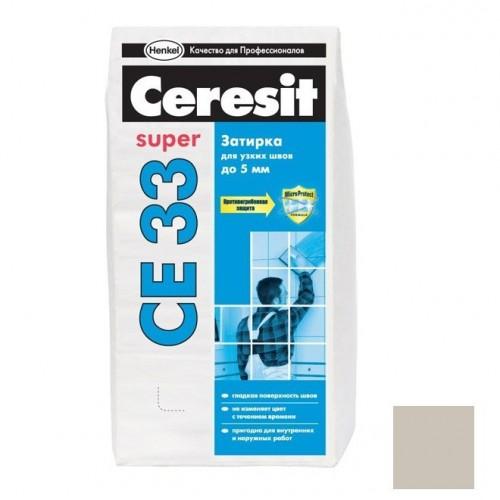 Затирка цементная для узких швов Ceresit CE 33 Super серая 25 кг