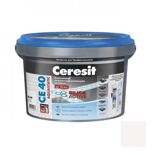 Затирка цементная для швов Ceresit CE 40 Aquastatic Мельба 2 кг