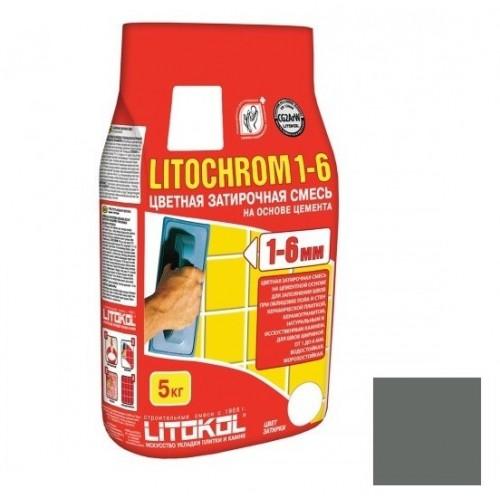 Затирка цементная для швов Litokol Litochrom 1-6 C.10 серая 5 кг