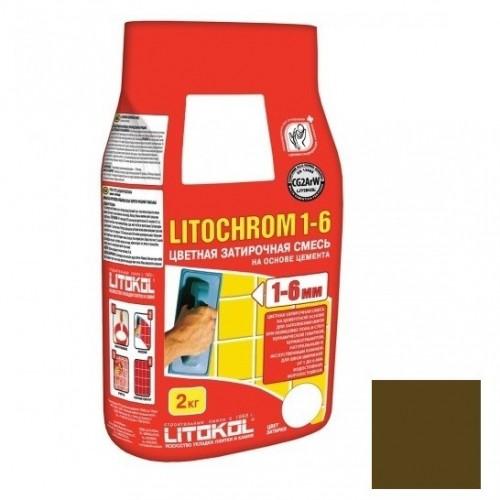 Затирка цементная для швов Litokol Litochrom 1-6 C.200 Венге 2 кг