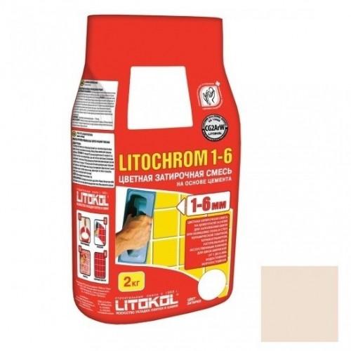 Затирка цементная для швов Litokol Litochrom 1-6 C.210 Персик 2 кг