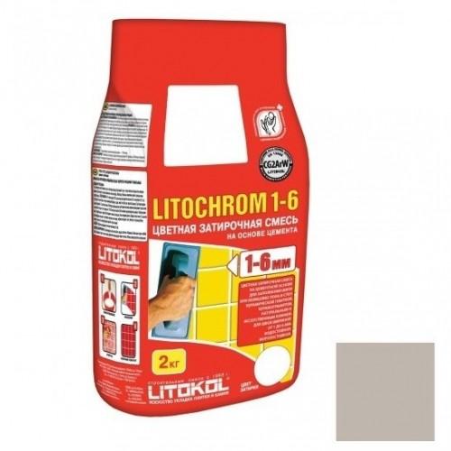 Затирка цементная для швов Litokol Litochrom 1-6 C.30 жемчужно-серая 2 кг