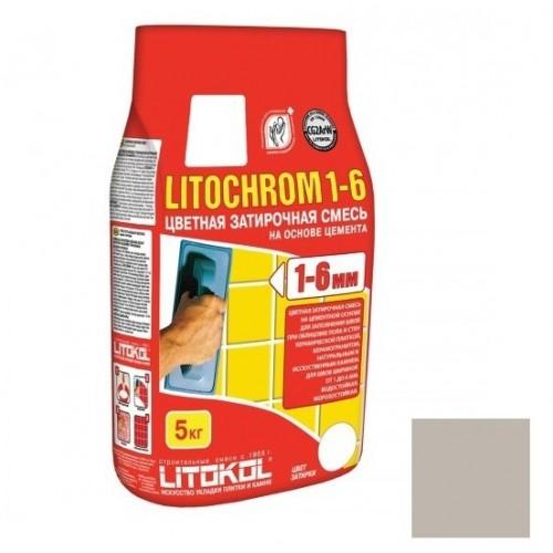 Затирка цементная для швов Litokol Litochrom 1-6 C.30 жемчужно-серая 5 кг