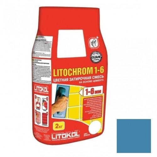 Затирка цементная для швов Litokol Litochrom 1-6 C.620 синяя ночь 2 кг