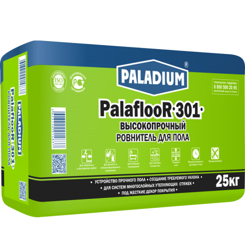 Ровнитель для пола Paladium ParaflooR-301 высокопрочный 25 кг