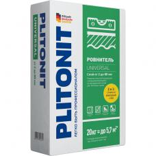 Ровнитель для пола Plitonit Universal быстротвердеющий самовыравнивающийся 20 кг