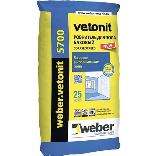 Ровнитель для пола базовый Weber.Vetonit 5700 25 кг