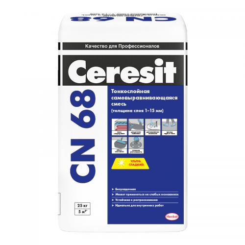 Смесь самовыравнивающаяся Ceresit CN 68 25 кг