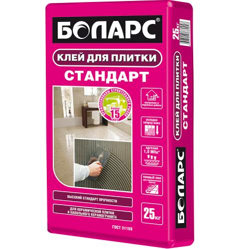 Клей для плитки Боларс Стандарт 25 кг