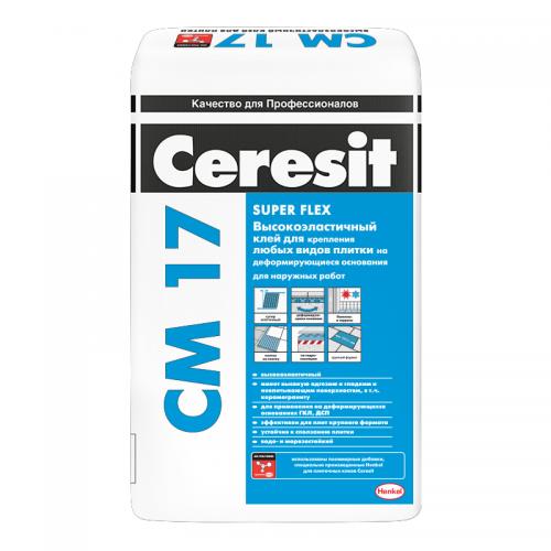 Клей для плитки высокоэластичный Ceresit CM 17 25 кг