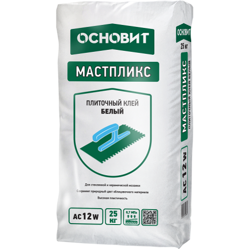 Клей для плитки Основит Мастпликс AC12 W 25 кг
