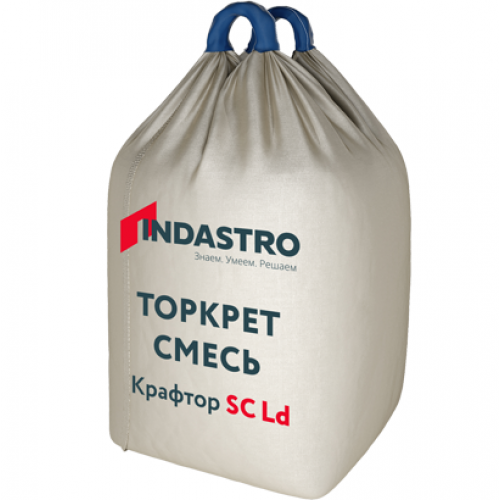 Торкрет смесь Индастро Крафтор SC40 D LD полимерная фибра 1000 кг