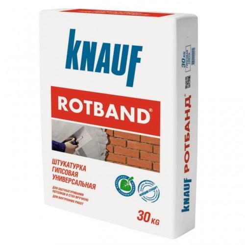 Штукатурка гипсовая универсальная Knauf Ротбанд белая 30 кг