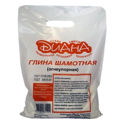 Глина шамотная Диана огнеупорная 5 кг