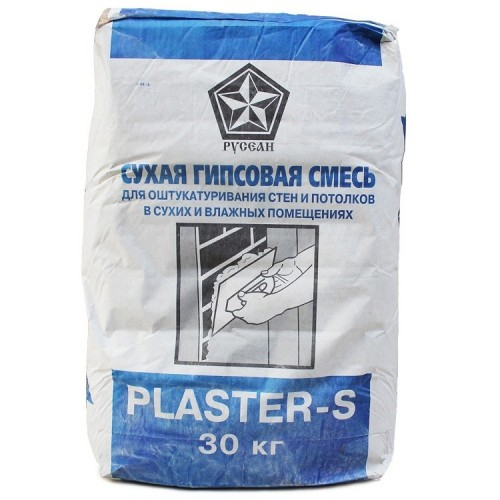 Штукатурка гипсовая Русеан Plaster-S 30 кг