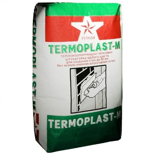 Штукатурка гипсовая Русеан Termoplast-M белая 25 кг для машинного нанесения