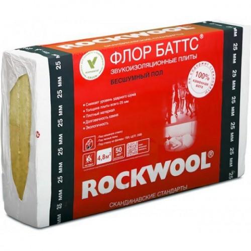 Базальтовая вата Rockwool Флор Баттс 1000х600х25 (4,8м2)