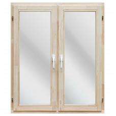 Окно деревянное однокамерное Дана 18 мм 1160х1170х40 мм двухстворчатое створки поворотные 1 уплотнитель