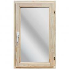 Окно деревянное однокамерное Дана 18 мм 960х580х40 мм одностворчатое створка поворотная правая 1 уплотнитель