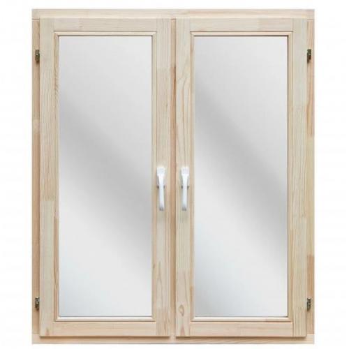 Окно деревянное однокамерное Дана 18 мм 1160х970х40 мм двухстворчатое створки поворотные 1 уплотнитель