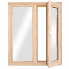 Окно деревянное однокамерное Дана 28 мм 1160х970х68 мм двухстворчатое створка поворотная правая 2 уплотнителя