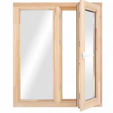 Окно деревянное однокамерное Дана 28 мм 1160х1170х68 мм двухстворчатое створка поворотная правая 2 уплотнителя