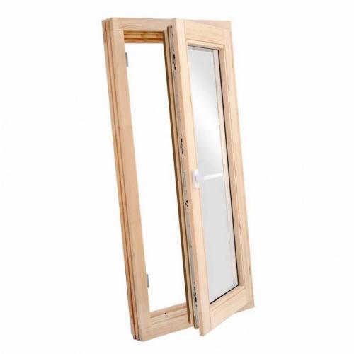 Окно деревянное однокамерное Дана 28 мм 580х870х68 мм одностворчатое створка поворотная правая 2 уплотнителя