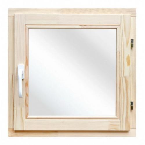 Окно деревянное однокамерное Дана 18 мм 580х580х40 мм одностворчатое створка поворотная правая 1 уплотнитель