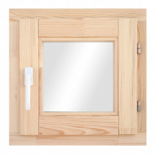Окно деревянное однокамерное Дана 28 мм 580х580х68 мм одностворчатое створка поворотная правая 2 уплотнителя